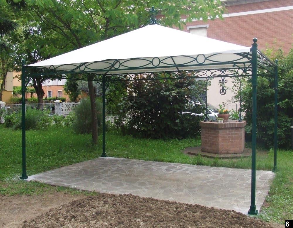 Gazebo da giardino in ferro design casa creativa e - Porticati esterni ferro ...
